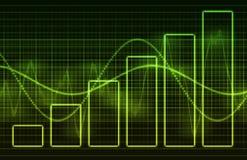De Grafieken van gegevens Royalty-vrije Stock Foto