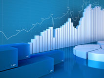 De grafieken van statistieken Royalty-vrije Stock Foto