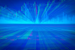 De grafiekgrafiek van de kaarsstok van effectenbeursinvestering handel Stock Afbeeldingen