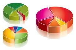 De grafiekinzameling van Colorfull Stock Afbeeldingen