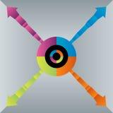 De Grafiekpictogram van de segmentgroei Stock Afbeeldingen