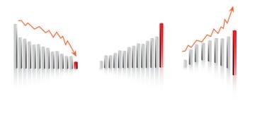 De grafiekvrienden van het bedrijfswinstverlies vector illustratie