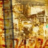 De grafische abstracte achtergrond van Grunge Stock Foto