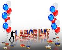 De Grafische Achtergrond van de Dag van de Arbeid Stock Afbeelding