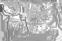 De grafische achtergrond van de kringsraad in hoogte - technologiestijl stock illustratie