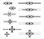 De grafische decoratieve reeks van de elementenafbakening Stock Afbeelding