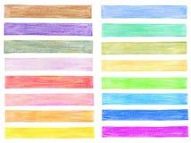 De grafische elementen van het kleurenpotlood Stock Fotografie