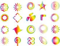 De grafische elementen van het ontwerpsymbool Royalty-vrije Stock Afbeelding