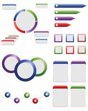 De grafische elementen van info Royalty-vrije Stock Foto
