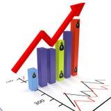 De grafische groei Stock Foto