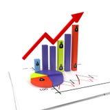 De grafische groei Royalty-vrije Stock Fotografie