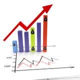 De grafische groei Stock Foto's