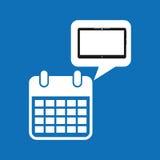 De grafische media van de de kalenderdatum van het wolkenapparaat apps Stock Foto