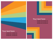 De grafische reeks van de brochure royalty-vrije illustratie