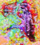 De grafische samenstelling simuleert een helder gekleurd plastiek Stock Afbeeldingen