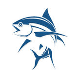 De grafische stijl van de vissentatoegering, vector Stock Afbeeldingen