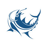 De grafische stijl van de visserijtatoegering, vector Stock Foto's