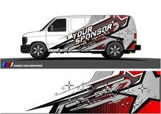 De Grafische vector van de autolivrei abstract het rennen vormontwerp voor achtergrond van de voertuig de vinylomslag royalty-vrije illustratie