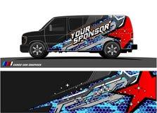 De Grafische vector van de autolivrei abstract het rennen vormontwerp voor achtergrond van de voertuig de vinylomslag vector illustratie