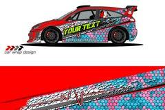 De grafische vector van de voertuiglivrei abstract grungeontwerp als achtergrond voor van de voertuig het vinylomslag en auto bra royalty-vrije illustratie