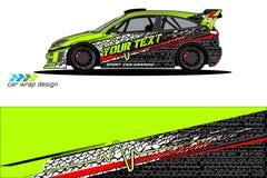 De grafische vector van de voertuiglivrei abstract grungeontwerp als achtergrond voor van de voertuig het vinylomslag en auto bra royalty-vrije stock afbeelding