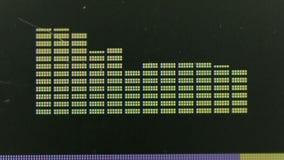 De grafische Vertoning van de Equaliser stock footage