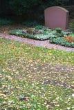 De Grafsteen van de herfst Stock Fotografie