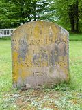 De grafsteen van William Penn, stichter van de Provincie van Pennsylvania en zijn vrouw Hannah stock fotografie