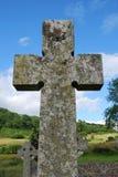De grafzerk van het kruisbeeld Stock Fotografie