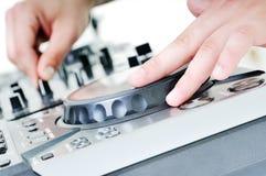 De grammofoon van DJ stock afbeeldingen
