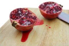 De granaatappel cuted Stock Foto