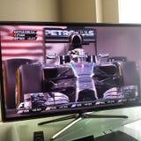 De Grand Prix Abu Dhabi van Hamilton Royalty-vrije Stock Foto