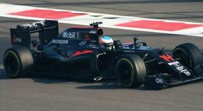 De Grand Prix F1 2016 van McLarenhonda Stock Afbeelding