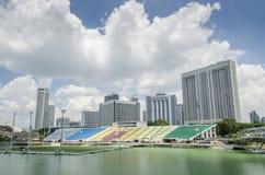 De Grand Prixtribunes van Singapore Stock Foto's