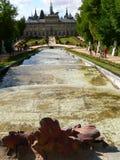 de Granja la palacio实际segovia西班牙 免版税库存照片