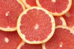 De Grapefruit van plakken Royalty-vrije Stock Afbeelding