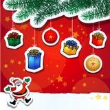 De grappige achtergrond van Kerstmis Stock Foto