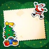 De grappige achtergrond van Kerstmis Stock Foto's
