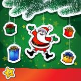 De grappige achtergrond van Kerstmis Royalty-vrije Stock Afbeeldingen