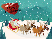 De grappige achtergrond van Kerstmis Stock Afbeelding