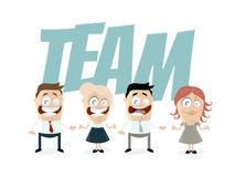 De grappige bedrijfsmensen zijn een team vector illustratie