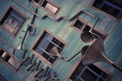 De grappige bouw in centrum van Dresden Stock Afbeeldingen