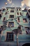De grappige bouw in centrum van Dresden Stock Foto
