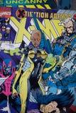 De grappige die het boekdekking van X-Men door Wonderstrippagina wordt gepubliceerd Stock Foto