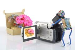 De grappige exploitant van een videocameraconcept Royalty-vrije Stock Afbeelding