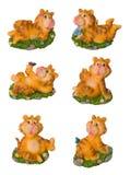 De grappige geïsoleerde herinnering van de tijgerdecoratie Stock Foto