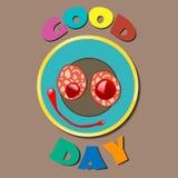 De grappige Goede Dag van de kleurenplaat Royalty-vrije Stock Fotografie