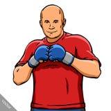 De grappige illustratie van de beeldverhaal koele MMA vechter royalty-vrije illustratie