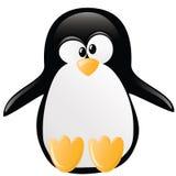 De grappige illustratie van de Pinguïn Stock Afbeeldingen