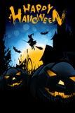 De Grappige Illustratie van Halloween met Heks royalty-vrije illustratie